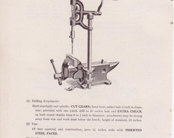 Items Similar To Vintage Vise And Anvil Combination