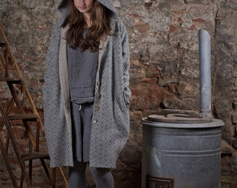 FOREST COAT / CARDIGAN / alpaca & sheep wool