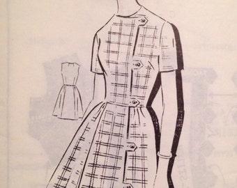 "Vintage 1966 Misses' Patt-O-Rama Mail Order Dress Pattern 8181 Size 20 (40"" Bust)"