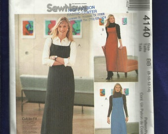 McCalls 4140 Slim Jumper or Sun Dress with Narrow Straps  Size 8 to 14 UNCUT