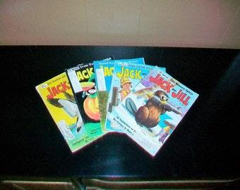 5 Jack and Jill Magazines Vintage 1969 Children's Books