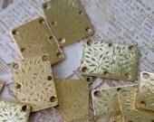 Mixed Media, Etched Leaf Design, Jewelry Findings, Gold Findings, Craft Supplies, Metal Findings, Mixed Media Art, Engraved Metal