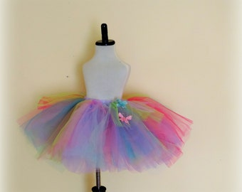 girls skirt tutu tulle skirt pink lavender pastel tutu butterfly tutu girls birthday party tutu skirt spring butterfly skirt garden tutu