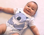 Koala Cute Baby Clothes - Funny Onesies - Koala Bear Baby Onesie