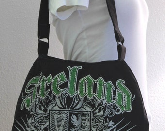 Ireland Up-cycled T-shirt Hobo Bag