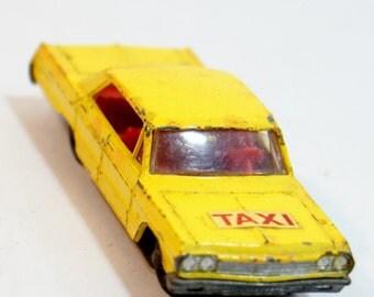 Taxi Matchbox Impala Chevrolet 20 Lesney No Yellow Vintage Chevy Cab Red 1965 Interior Wheels England Rare