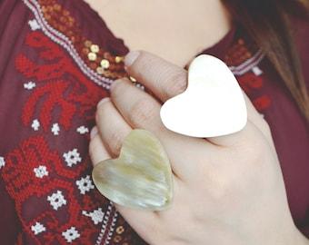Heart of Horn Ring