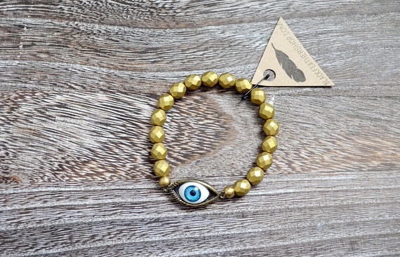Evil Eye Bracelet - Incan Gold