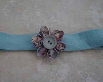 Small Liberty fabric flower headband