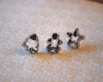 Cookie Cutter Earrings -- Cookie Cutter Studs, Pick your favorite cookie cutter!