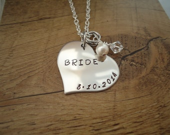 Bridal Necklace - Bride - Gift for the Bride - Wedding Jewelry - Bridal Necklace with Swarovski Crystal Charm