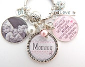 PERSONALIZED MOMMY Necklace, Mommy Gift Mothers Day Gift, Mommy and Me Gift, Pink Chevron Nana, Grandchildren Names Grandmother necklace