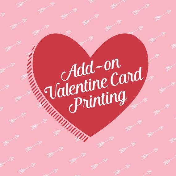 Add-on Valentine Card Printing