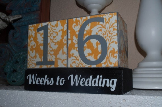 Wedding Countdown Blocks. Bride Gift. Proposal Gift. Countdown to I Do ...
