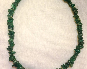 Free Shipping: Vintage 1970s Genuine Polished Jasper Choker Length Necklace