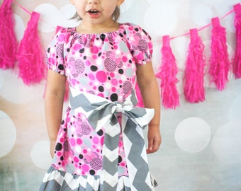 Minnie Mouse Peasant Dress, Disney Clothing, Minnie Mouse Outfit, Girls Peasant Dress, Peasant Dress, Toddler Dress