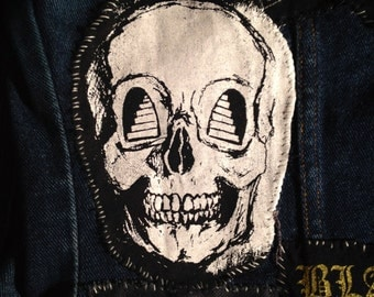 STAIR in to MY EYES Skull Silkscreen Patch