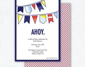 "Nautical Party Invitation Printable ""Ahoy"""