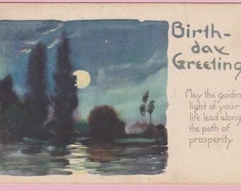 Ca. 1921 Birthday Greetings Postcard - 1653