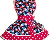 READY TO SHIP! Red White & Blue July 4th Popsicles Diner/Pinup Apron