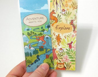 Adventure Laminated Art Bookmarks