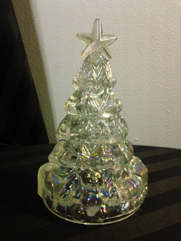 Vintage iridescent glass christmas tree holiday decor