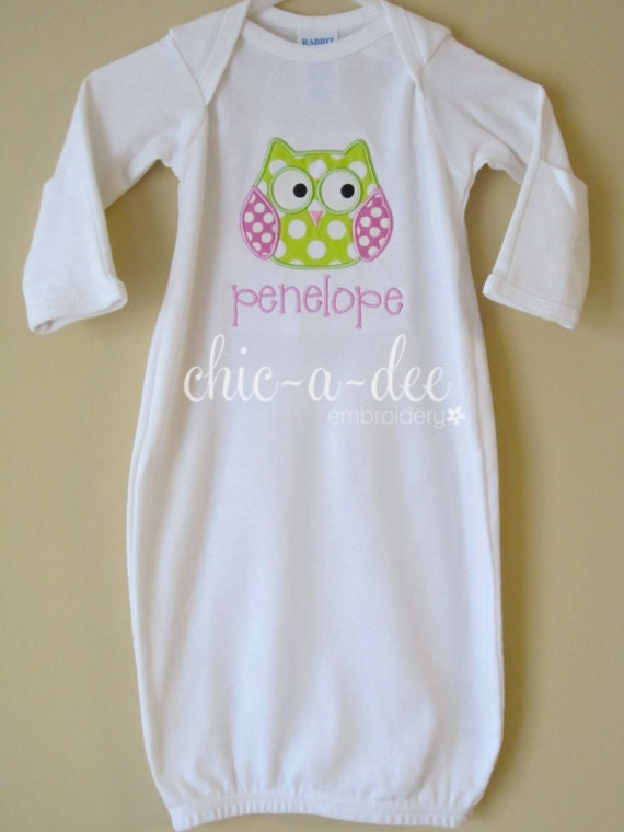 Personalized Owl Newborn Layette