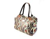 African Print Ankara Bag Women's Shoulder Bag | African Print Shiny Oil Cloth | Ankara Wax Print Fabric |