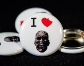 I Love Zombies | The Walking Dead | 1-inch Buttons |