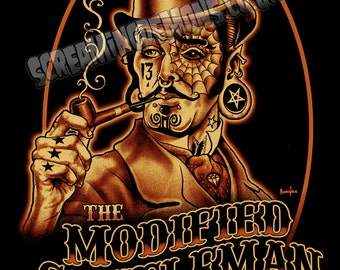 Modified Gentlemen,Steampunk Art,  Lowbrow Art, Tattoo Art, Pop Art,  Poster Print by Marcus Jones