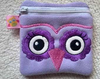 Handmade Owl Zipper Purse