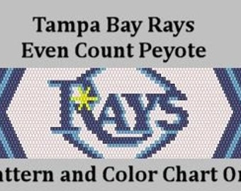 Tampa Bay Rays - Peyote Pattern - Instant Download