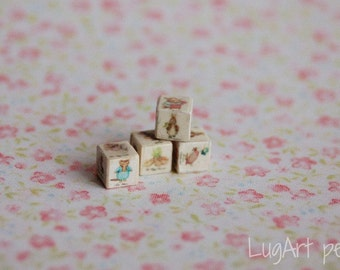 One wooden toy cube with BP pictures