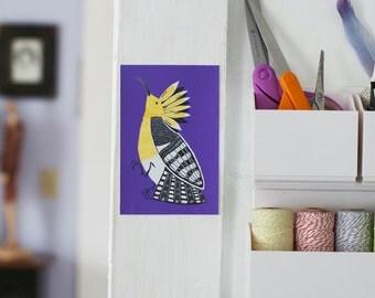 SALE Hoopoe Bird Removable Decal / Bird Sticker / Removable Wallpaper / Original Illustration / Vinyl Decal / Bumper Sticker