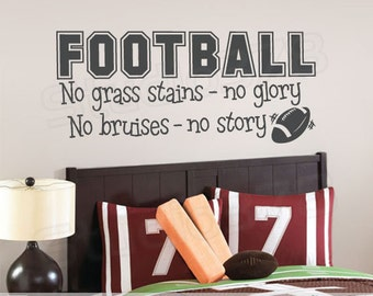 Football Vinyl Wall Decal   Football Decor   No Grass Stains No Glory    Sports Wall Part 39
