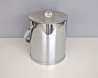 Mid Century Ice Bucket - Stainless Steel Insulated Ice Bucket
