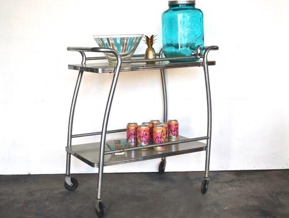 SALE Vintage Rolling Bar Cart or Kitchen Cart