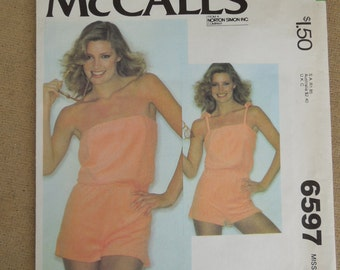 Vintage McCalls Playsuit Romper Patttern