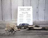 Navy Blue Wedding Ceremon...