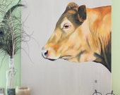 Original Oil Painting - Cow Art - Animal Painting - Cow Painting - Oil on Canvas