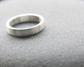 Recycled Silver Wedding Ring, Argentium Silver Wedding Band For Men Or Women, 4mm Wedding Ring, Brushed  Finish, Custom Size
