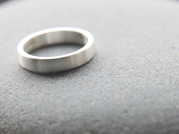 Recycled Silver Wedding Ring Argentium Silver Wedding Band