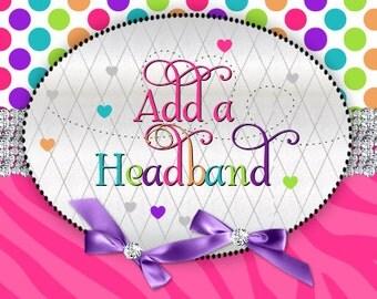 Add a Matching Headband