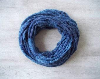SALE! Steel Blue Scarf - Infinity Scarf - Loop Scarf - Circle Scarf - Cowl Scarf - Chunky