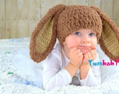 Bunny Hats Brown Fluffy Easter Bunny Hat Rabbit Ears Beanie with Floppy Ears