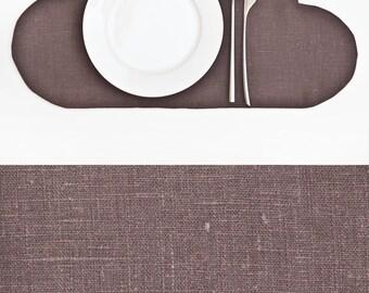 Gray Placemat, Linen Cloud Placemat, Linen Kitchen Decor