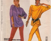 """Oversized Top and Narrow Pants for Knits Vintage 1980s Sewing Pattern, McCalls 2587, Size Medium Bust 36-38"""" (92-97cm), Free US Shipping"""