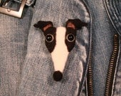 Greyhound, Needle Felted Greyhound Pin, Italian Greyhound, IG, Iggies,Galgo, Whippet