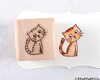 50% OFF SALE Why cat Rubber Stamp