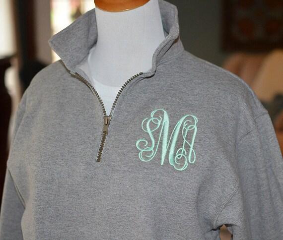 Fast Shipping Monogram Sweatshirt Zip Pullover Half Zip